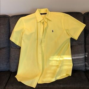 Polo short sleeve button down shirt